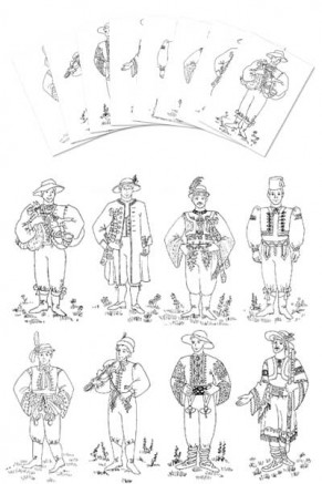 Coloring Pages - Czech & Slovak Boy costumes (gc-106-cp)