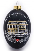 California Trolley Ornament (ca-2)