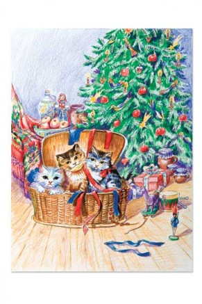 Three little kittens at Christmas (gc-022)
