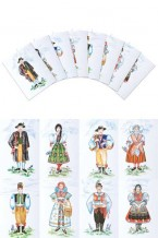 Czech Boy & Girl Costumes Postcards (pcs-103)