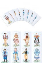 Slovak Boy & Girl Costumes Postcards (pcs-104)