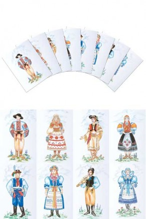 Slovak Boy & Girl Costumes Postcards (pcs-104)