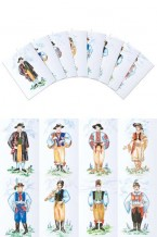 Czech & Slovak Boy costumes Postcards (pcs-106)