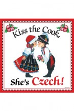 Tile or Magnet - Kiss the Cook, She's Czech